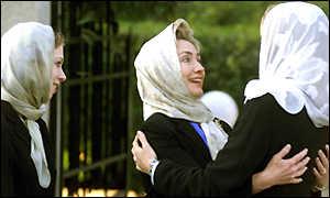 Clinton in HeadScarf